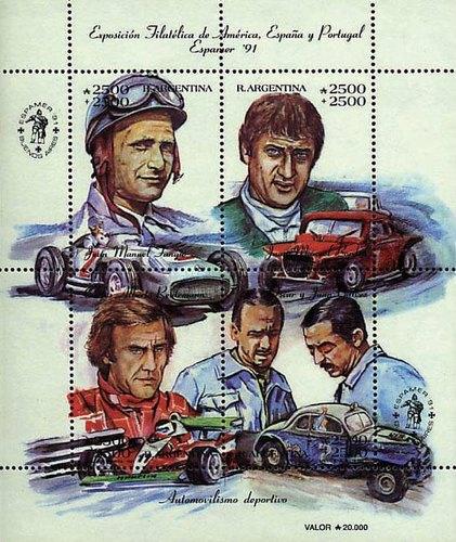 [Espamer 91 Spain-Latin America Stamp Exhibition, Buenos Aires, Racing Drivers, Typ ]