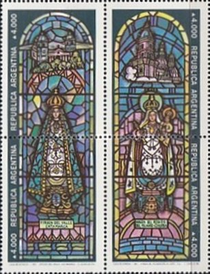 [Christmas, Stained Glass Windows from Church of Our Lady of Lourdes, Santos Lugares, Buenos Aires, Typ ]