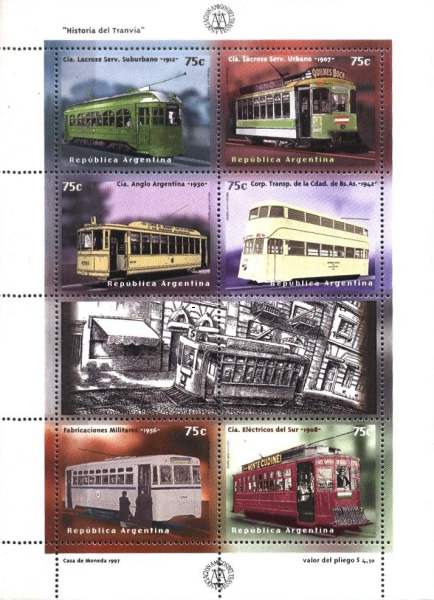 [The 100th Anniversary of the First Electric Tramway in Buenos Aires - Illustrations from