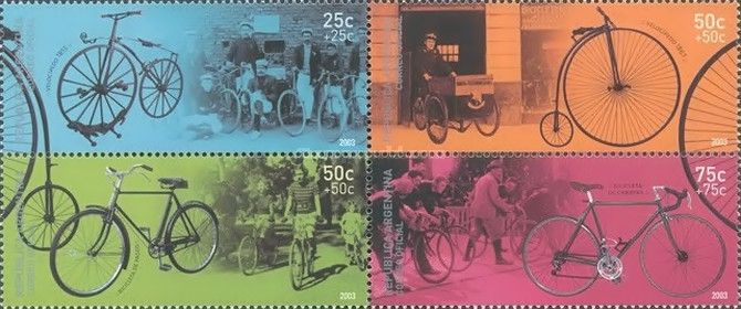 [Argentine Philately - Velocipedes, Bicycles and Tricycles, Typ ]