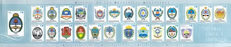 [The 200th Anniversary of Independence - Coat of Arms of the Argentinian Provinces, Typ ]