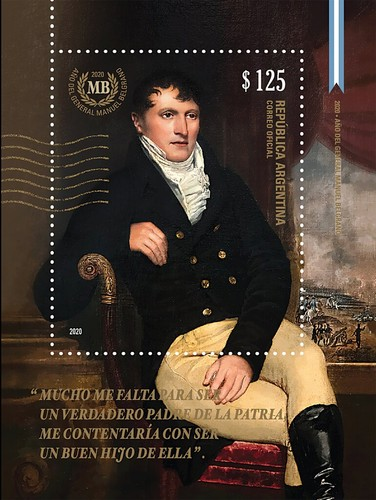 [The 200th Anniversary of the Death of General Miguel Belgrano, 1770-1820, type ]