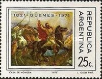 [The 150th Anniversary of the Death of General M. de Guemes, Typ ADW]
