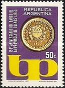 [The 150th Anniversary of the Provincial Bank of Buenos Aires, Typ AFF]