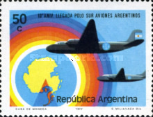 [The 10th Anniversary of the First Argentine Flight to South Pole, Typ AFG]