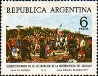 [The 150th Anniversary of the Uruguayan Independence, Typ AJF]