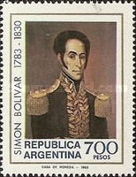 [The 150th Anniversary of the Death of Simon Bolivar, Typ AUB]