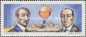[The 75th Anniversary of the Crossing of Andes by Balloon, Typ BQW]