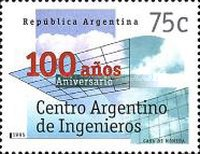 [The 100th Anniversary of the Argentine Engineers' Centre, Buenos Aires, Typ BWR]