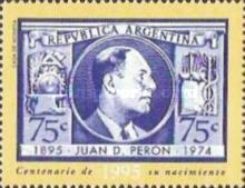 [The 100th Anniversary of the Birth of Juan Peron - President, 1946-55 and 1973-74, Typ BXM]