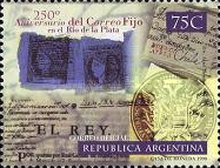 [The 250th Anniversary of the Establishment of Regular Postal Service in Rio de la Plata, Typ CDJ]