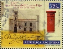 [The 250th Anniversary of the Establishment of Regular Postal Service in Rio de la Plata, Typ CDK]