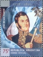 [The 150th Anniversary of the Death of General Jose de San Martin, type CJY]