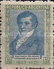 [The 100th Anniversary of the Death of General Manuel Belgrano, 1770-1820, type CO]