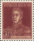 [Definitive Issues - General San Martin, with Period after Value, Typ CU10]