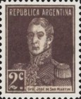 [Definitive Issues - General San Martin, with Period after Value, Typ CU2]