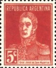 [Definitive Issues - General San Martin, with Period after Value, Typ CU5]