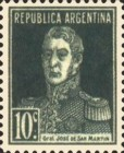 [Definitive Issues - General San Martin, with Period after Value, Typ CU6]