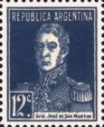 [Definitive Issues - General San Martin, with Period after Value, Typ CU7]