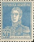 [Definitive Issues - General San Martin, with Period after Value, Typ CU8]
