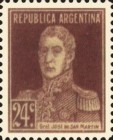 [Definitive Issues - General San Martin, with Period after Value, Typ CU9]