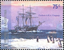 [Argentine Antarctica - The 100th Anniversary of the Rescue of the Swedish Scientific  Expedition by the Corvette A.R.A. Uruguay, Typ CUB]