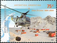 [Argentine Antarctica - Orcadas Base & Sea King Helicopter, Typ CUK]