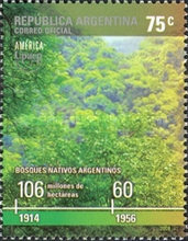 [America Issue - Preserving the Environment - Native Forests of Argentina, Typ CUN]