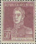 [Definitive Issues - General San Martin, without Period after Value, Typ CW11]