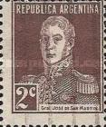 [Definitive Issues - General San Martin, without Period after Value, Typ CW2]