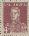 [Definitive Issues - General San Martin, without Period after Value, Typ CW4]