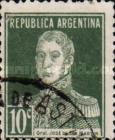[Definitive Issues - General San Martin, without Period after Value, Typ CW6]