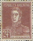 [Definitive Issues - General San Martin, without Period after Value, Typ CW9]