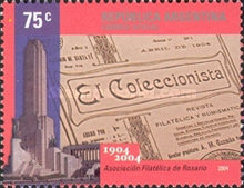 [The 100th Anniversary of the Philatelic Association of Rosario, Typ CWM]