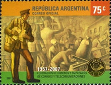 [The 50th Anniversary of the creation of Federation of Workers and Office Workers of Postal and Telecommunications Services, Typ DDM]