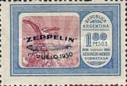 [Airmail - The First South American Route of Graf Zeppelin Airship - Airmail Stamps of 1928 Overprinted in Blue, type DK3]