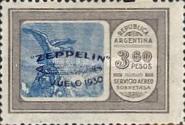 [Airmail - The First South American Route of Graf Zeppelin Airship - Airmail Stamps of 1928 Overprinted in Blue, type DK4]