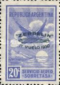 [Airmail - The First South American Route of Graf Zeppelin Airship - Airmail Stamps of 1928 Overprinted in Green, type DL]