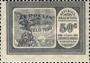[Airmail - The First South American Route of Graf Zeppelin Airship - Airmail Stamps of 1928 Overprinted in Green, type DL1]