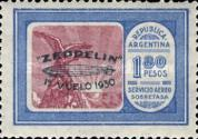 [Airmail - The First South American Route of Graf Zeppelin Airship - Airmail Stamps of 1928 Overprinted in Green, type DL4]