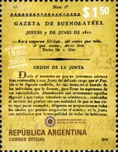 [The 200th Anniversary of the Gazeta de Buenos Ayres, Typ DLI]
