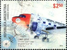 [The 50th Anniversary of the First Argentinian Flight to the South Pole, Typ DPA]