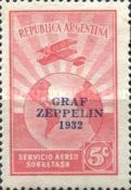 """[The Second South American Route of the Graf Zeppelin Airship - Overprinted """"GRAF - ZEPPELIN - 1932"""", type DQ]"""