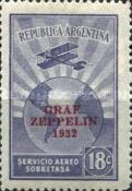 """[The Second South American Route of the Graf Zeppelin Airship - Overprinted """"GRAF - ZEPPELIN - 1932"""", type DQ1]"""