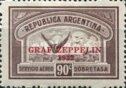 """[The Second South American Route of the Graf Zeppelin Airship - Overprinted """"GRAF - ZEPPELIN - 1932"""", type DQ2]"""