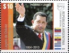 [América UPAEP - Proceres and Leaders, Hugo Chávez Frías, 1954-2013, Typ DTA]