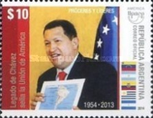 [América UPAEP - Proceres and Leaders, Hugo Chávez Frías, 1954-2013, Typ DTB]