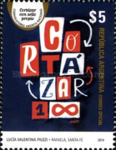 [The 100th Anniversary of the Birth of Julio Cortázar, 1914-1984, Typ DUL]