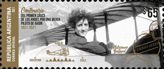 [The 100th Anniversary of the Flight of Adrienne Bolland across the Andes, type EDM]