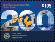[The 200th Anniversary of the Federal Police of Argentina, type EDN]